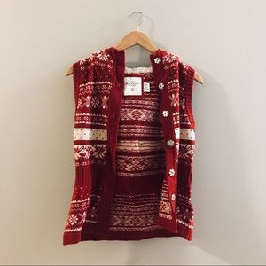 CUTE Christmas Sweater Vest with Hood!